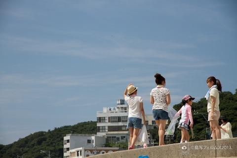 ウミガメ隊_ゴミ拾い_前浜_中京大学_2013-08-02 09-56-58