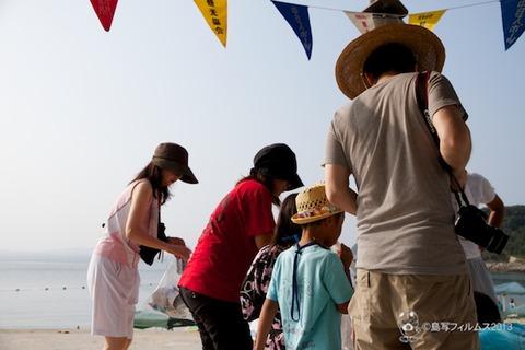 ウミガメ隊_ゴミ拾い_前浜_2013-08-14 07-52-34