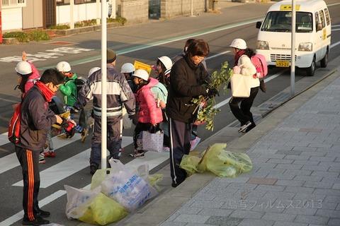 ウミガメ隊_早朝清掃_篠島小学校_2013-01-09 08-02-28