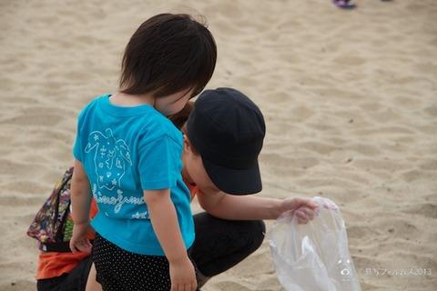 ウミガメ隊_ゴミ拾い_2013-06-19 07-44-11