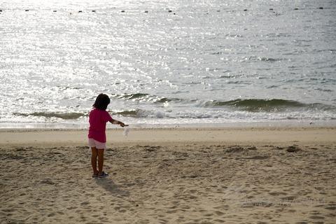 ウミガメ隊_ゴミ拾い_2014-08-17 07-43-12