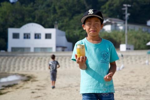 ウミガメ隊_ゴミ拾い_2014-07-16 07-50-06