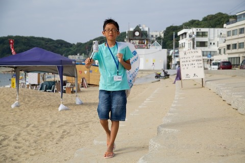 ウミガメ隊_ゴミ拾い_2014-07-30 07-40-59