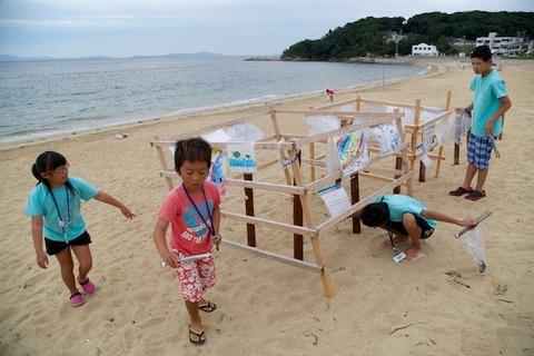ウミガメ隊_ゴミ拾い_2014-08-31 07-31-22