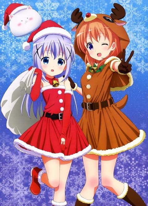 チノ&ココア【クリスマス】 ご注文はうさぎですか?? 高画質・壁紙・画像