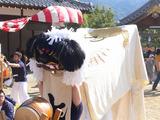 ♪+゜庵治町の桜八幡神社で秋祭り♪+゜