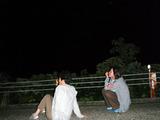 御蔵島で夜空を見上げる