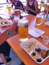 御蔵荘で朝食・ビール