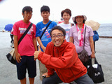 御蔵島港記念撮影
