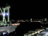 東海汽船かめりあ丸とレインボーブリッジ