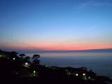 御蔵島の夕焼け