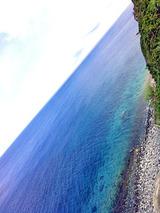 御蔵島 青い海