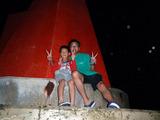 御蔵島 赤灯台にて