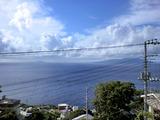 入道雲と三宅島