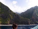 御蔵島の断崖