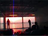船上にて朝日を拝む