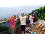 御蔵島ゾウ遺跡付近にて