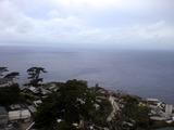 曇り空の御蔵島の朝