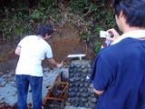 御蔵島 水汲み場