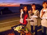 御蔵島で夕焼けBBQ!