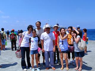 御蔵島にて集合写真