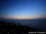 御蔵島の夕焼け空