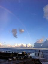 御蔵島 虹