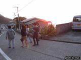 御蔵島の夕暮れ時