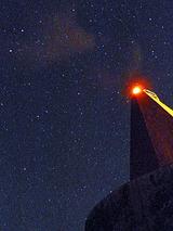 御蔵島赤灯台 星空