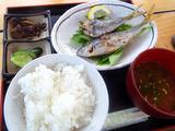 タカベの塩焼定食