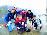 御蔵島で集合写真