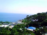 快晴の御蔵島
