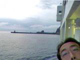 御蔵島に接岸中
