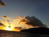 御蔵島の朝焼け