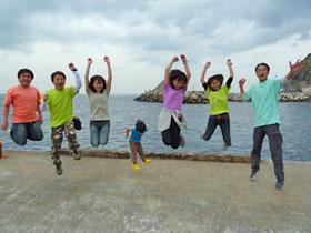 御蔵島でジャンプ!