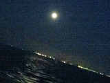 東京湾の月夜