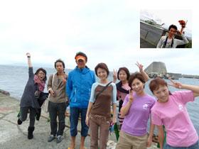 御蔵島記念撮影