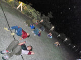 夜空を飛ぶオオミズナギドリウォッチング