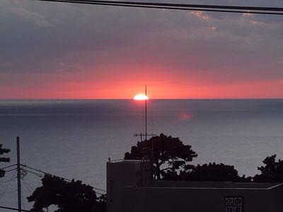 御蔵島 夕陽