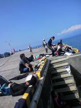 御蔵島の浜で練習会