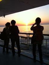 東京湾 夕陽