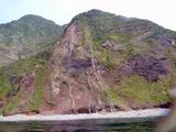 御蔵島マグマが地中で固まった跡