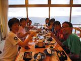 御蔵荘の絶景夕食