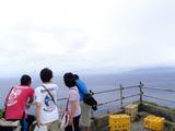 高台からの三宅島を望む
