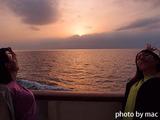 東京湾の夕日