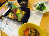 御蔵荘夕食 御蔵産カツオ