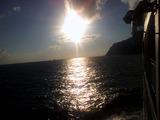 御蔵島にて日の出