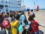 御蔵島から東京へ向かう東海汽船