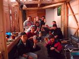 御蔵島の夕日絶景ログハウスBBQ