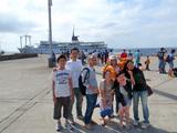 乗船前の集合写真